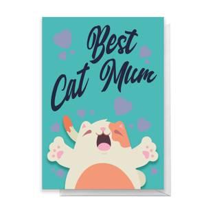 Best Cat Mum Greetings Card