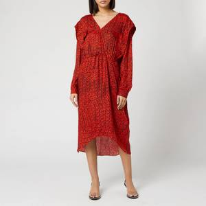 Preen By Thornton Bregazzi Women's Dotted Jacquard Eve Dress - Red Dragon Scale