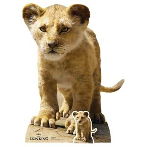 Young Simba (Lion King Live Action) Mini Cardboard Cut-Out
