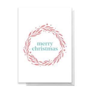 Merry Christmas Wreath Greetings Card
