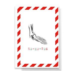 Ho-Ho-Toe Greetings Card