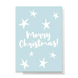 Merry Christmas Stars Greetings Card