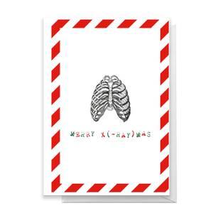 Merry X(-Ray)mas Ribs Greetings Card