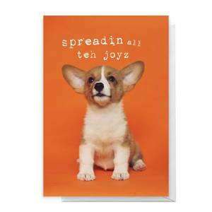 Spreadin All Teh Joyz Greetings Card