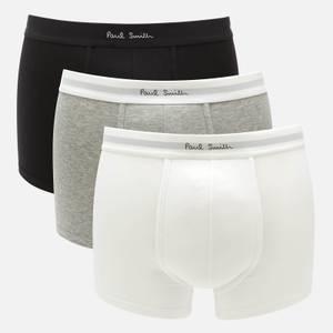 PS Paul Smith Men's 3-Pack Trunk Boxer Shorts - White/Grey/Black