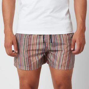 PS by Paul Smith Men's Signature Stripe Swim Shorts - Black
