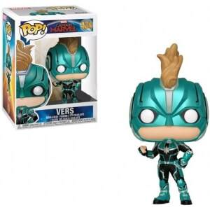 "Marvel Captain Marvel ""Vers"" with Helmet EXC Funko Pop! Vinyl"