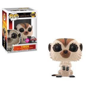 Figurine Pop! Timon (Flocked) - Disney Le Roi Lion