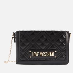 Love Moschino Women's Quilted Crossbody - Black