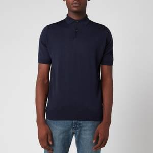 John Smedley Men's Payton 30 Gauge Merino Polo Shirt - Midnight