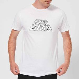 Star Wars: The Rise Of Skywalker Trooper Filled Logo Men's T-Shirt - White