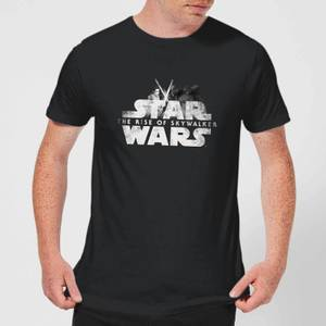 Star Wars: The Rise Of Skywalker Rey + Kylo Battle Men's T-Shirt - Black