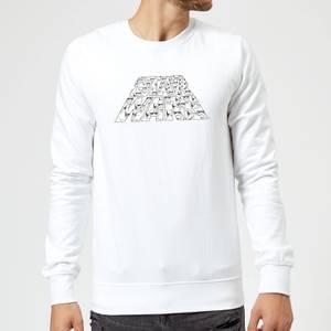 Star Wars The Rise Of Skywalker Trooper Filled Logo Sweatshirt - White