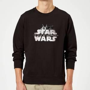 Star Wars The Rise Of Skywalker Rey + Kylo Battle Sweatshirt - Black