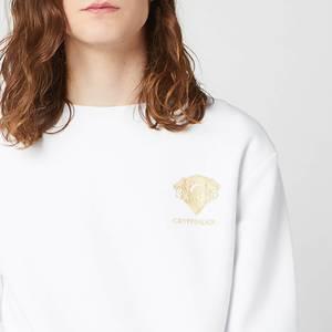Harry Potter Gryffindor Unisex Embroidered Sweatshirt - White