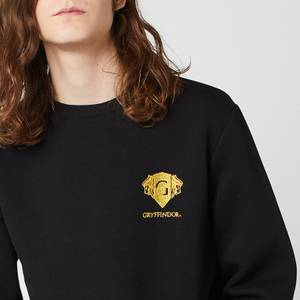 Sweat-shirt Unisexe Harry Potter Gryffindor Brodé - Noir