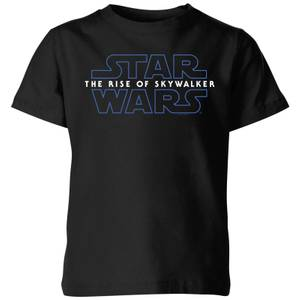 Star Wars The Rise Of Skywalker Logo Kids' T-Shirt - Black