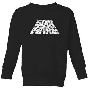 Star Wars The Rise Of Skywalker Trooper Filled Logo Kids' Sweatshirt - Black