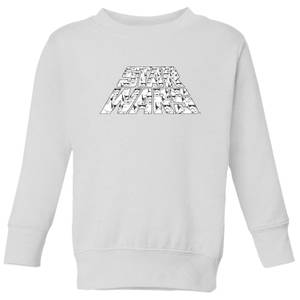 Star Wars The Rise Of Skywalker Trooper Filled Logo Kids' Sweatshirt - White