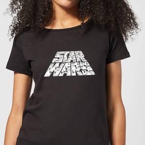 T-Shirt Star Wars L'Ascesa di Skywalker Star Wars IW Trooper Filled Logo - Nero - Donna