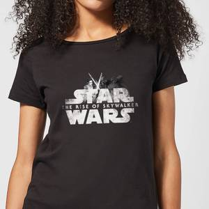 Star Wars The Rise Of Skywalker Rey + Kylo Battle Women's T-Shirt - Black