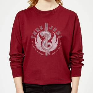 Star Wars The Rise Of Skywalker True Jedi Women's Sweatshirt - Burgundy