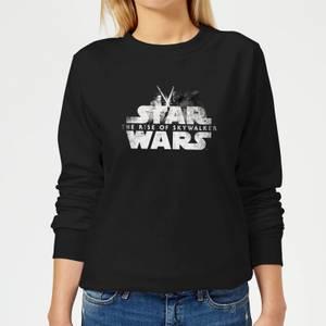 Star Wars The Rise Of Skywalker Rey + Kylo Battle Women's Sweatshirt - Black