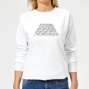 Star Wars The Rise Of Skywalker Trooper Filled Logo Women's Sweatshirt - White