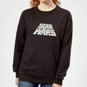 Star Wars The Rise Of Skywalker Trooper Filled Logo Women's Sweatshirt - Black
