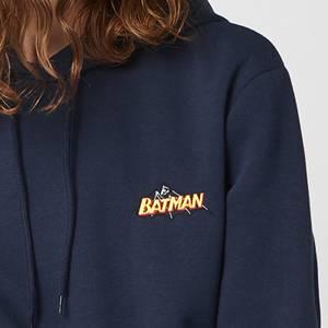 DC Batman Unisex Embroidered Hoodie - Navy
