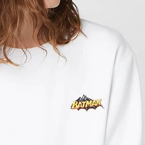 DC Batman Unisex Embroidered Sweatshirt - White