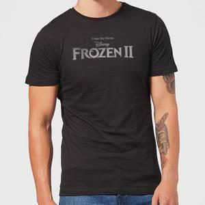 Frozen 2 Title Silver Men's T-Shirt - Black