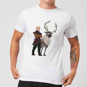 Frozen 2 Sven And Kristoff Men's T-Shirt - White