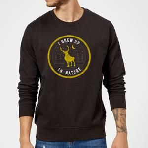Frozen 2 I Grew Up In Nature Sweatshirt - Black