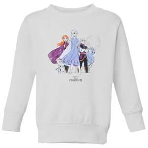Frozen 2 Group Shot Kids' Sweatshirt - White