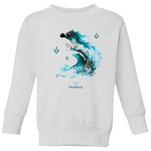 Frozen 2 Nokk Water Silhouette Kids' Sweatshirt - White