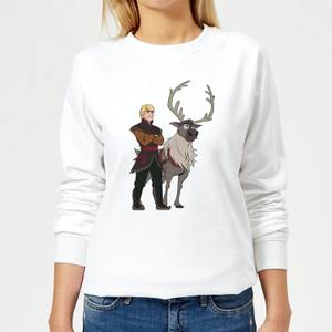 Frozen 2 Sven And Kristoff Women's Sweatshirt - White