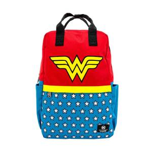 Loungefly DC Comics Dc Wonder Woman Vintage Nylon Square Backpack