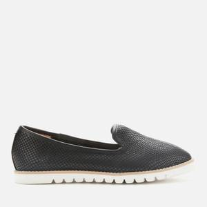 Dune Women's Galleon Leather Comfort Loafers - Black