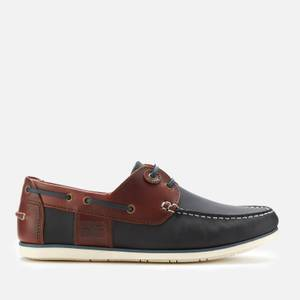 Barbour Men's Capstan Boat Shoes - Navy/Wine