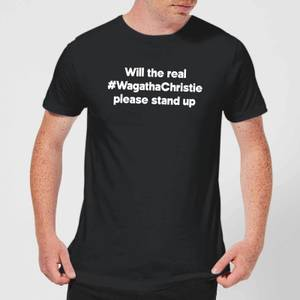 Will The Real #WagathaChristie Please Stand Up Men's T-Shirt - Black