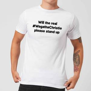 Will The Real #WagathaChristie Please Stand Up Men's T-Shirt - White