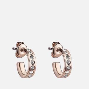 Ted Baker Women's Seeni: Mini Hoop Huggie Earring - Rose Gold/Crystal