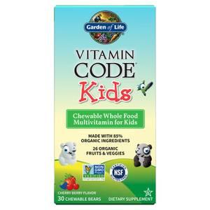 Vitamin Code Kids兒童綜合維他命-櫻桃果-30錠咀嚼錠