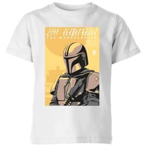 The Mandalorian Art Poster Kids' T-Shirt - White