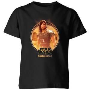 The Mandalorian Cara Dune Framed Kids' T-Shirt - Black