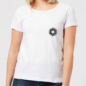 The Mandalorian Galactic Empire Insignia Breast Print Women's T-Shirt - White