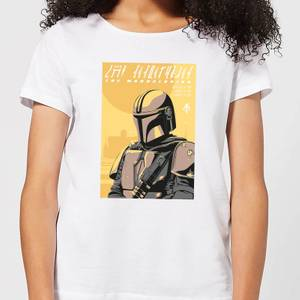 The Mandalorian Art Poster Women's T-Shirt - White