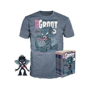 Marvel Venom Groot GITD EXC Pop and Tee Bundle