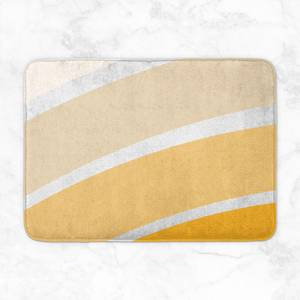 Rainbow Yellow Stripes Bath Mat